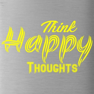 THINK HAPPY THOUGHTS gelb - Trinkflasche