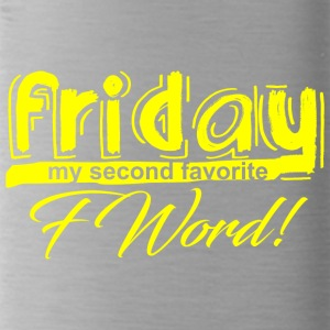 FRIDAY, MY SECOND FAVORITE F WORD gelb - Trinkflasche