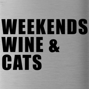 WEEKEND. WINE AND CATS! - Trinkflasche
