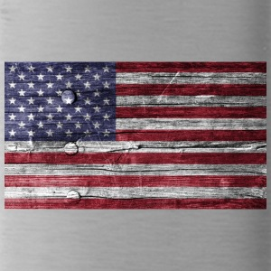 Amerika Flagge Holz Look - Trinkflasche