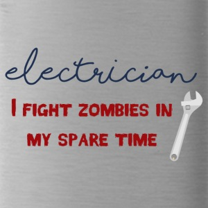 Elektriker: Electrician - I fight zombies in my sp - Trinkflasche