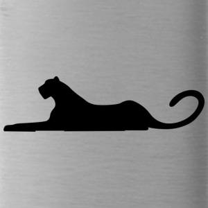 leopard black - Water Bottle