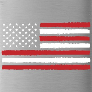 USA! Amerika! Flagge! Stars and Stripes! Patriot! - Trinkflasche