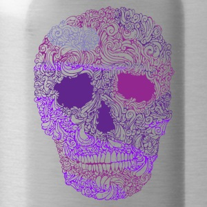 Ornement-Skull-in-Purple - Gourde