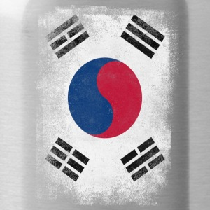South Korea Flag Proud Korean Vintage Distressed - Water Bottle
