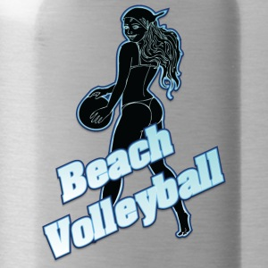 beach volleyball black - Water Bottle