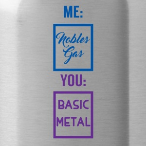 Periodensystem: Me - Nobles Gas. You - Basic Metal - Trinkflasche