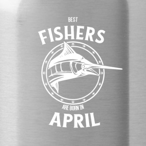 Present for fishers born in April - Water Bottle