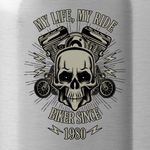 Gift for Biker - Year 1980 - Water Bottle