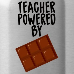 Lehrer / Schule: Teacher Powered By Chocolate - Trinkflasche