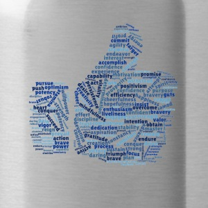 Positive and warm word cloud - Water Bottle