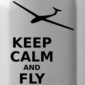 Keep calm and fly - Trinkflasche