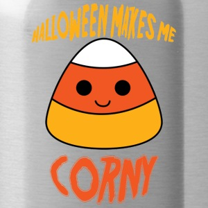Halloween: Halloween Makes Me Corny - Water Bottle