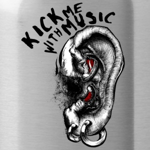 Kick me with Music - Water Bottle