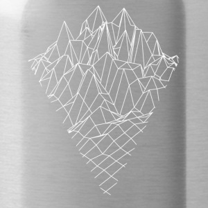 Mountain Mountain Graphics Vector Sketch - Water Bottle