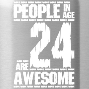 PEOPLE IN AGE 24 ARE AWESOME whit - Water Bottle