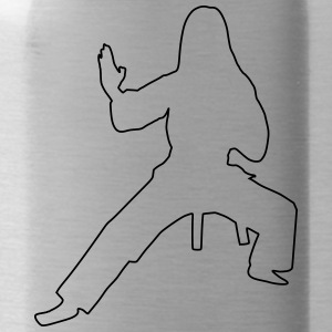 Karate Silhouette II - Water Bottle