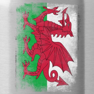 Wales Flag Proud Welsh Vintage Distressed Shirt - Water Bottle