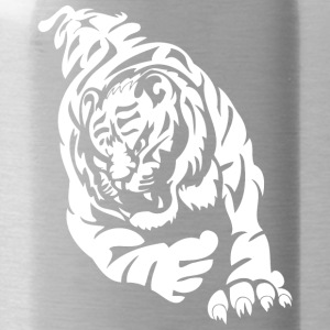 wild tiger attacking - Water Bottle