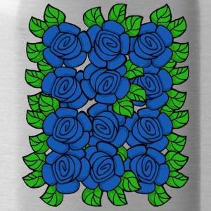 Blue Roses (Transparent) - Water Bottle