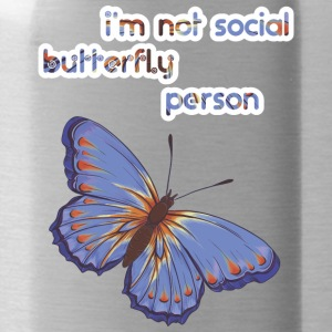 i am not social butterfly person - Water Bottle