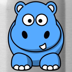 Lustiges Nilpferd Happy Hippo Comic Kinder - Trinkflasche