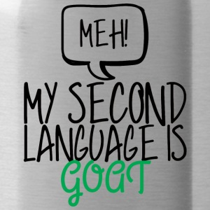Ziege / Bauernhof: Meh! My Second Language Is Goat - Trinkflasche