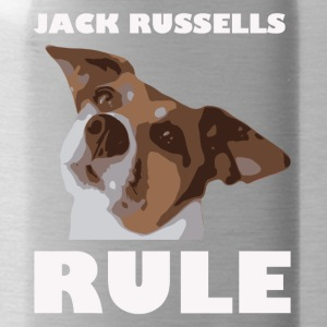 Jack russels rule2 white - Trinkflasche