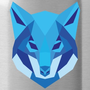 Wolf Low Polygon - Trinkflasche