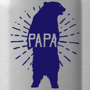 Papa Bear Fathers Day - fathers day - Water Bottle