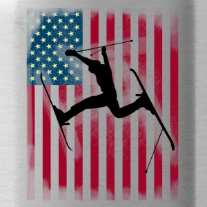 ski-jump stunt freestyle Bogner Team USA flag - Water Bottle