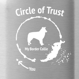 Funny Border Collie Shirt - Circle of Trust - Water Bottle