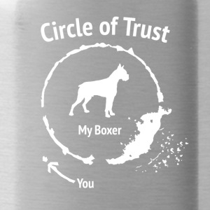 Funny Boxer Shirt - Circle of Trust - Water Bottle