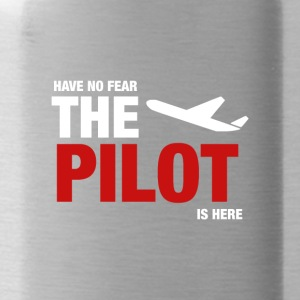 Have No Fear, The Pilot Is Here - Water Bottle