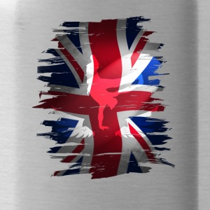 Union Jack flag britain Stunt England destroyed ro - Water Bottle