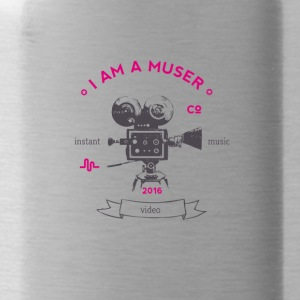 muser_kamera Vintage old love video app music - Water Bottle