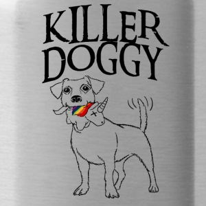 Killer Doggy Unicorn - Unicorn Svart - Vattenflaska