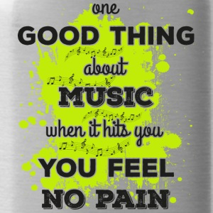 Music! When it hits you you feel no pain (dark) - Water Bottle