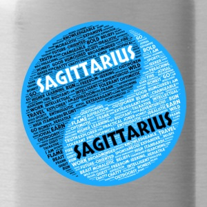 Sagittarius and Sagittarius Zodiac Sign Man Love - Water Bottle