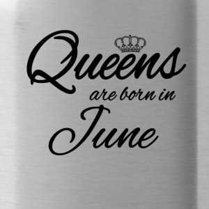 Queens Born June Princess June Birthday Bday - Water Bottle