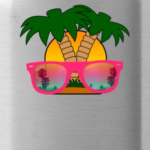Summertime! Sunglasses & Palm Trees - Water Bottle