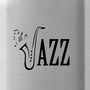 Cool Jazz Music Shirt, Saxophone and Musical notes - Water Bottle