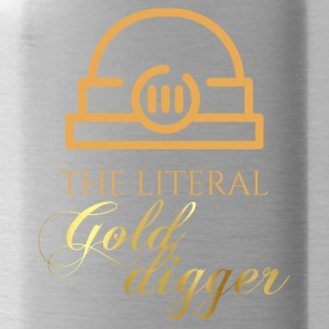 Mining: The literal Gold Digger - Water Bottle