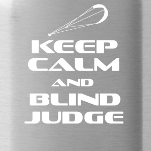 KITESURFING - KEEP CALM AND BLIND JUDGE - Water Bottle