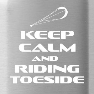 KITESURFING - KEEP CALM AND RIDING TOESIDE - Trinkflasche