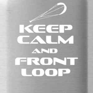 KITESURFING - KEEP CALM AND FRONT LOOP - Trinkflasche