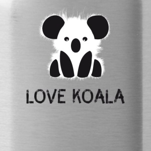 Koala animal cute bear fur cuddly australia l - Water Bottle