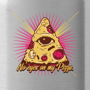 No eyes on my pizza - illuminati - eye - Water Bottle