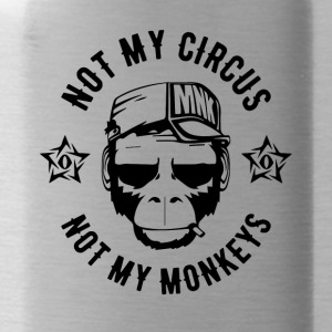NOT MY CIRCUS - NOT MY MONKEYS - Monkey Fun Shirt - Water Bottle