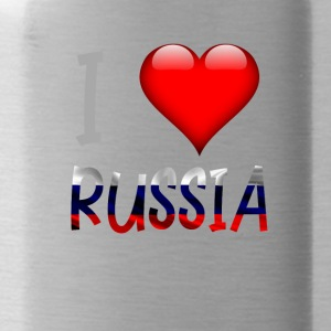 Amo Russia russi russo Shirt Design - Borraccia